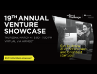 graphic of 19th annual venture showcase event promotion
