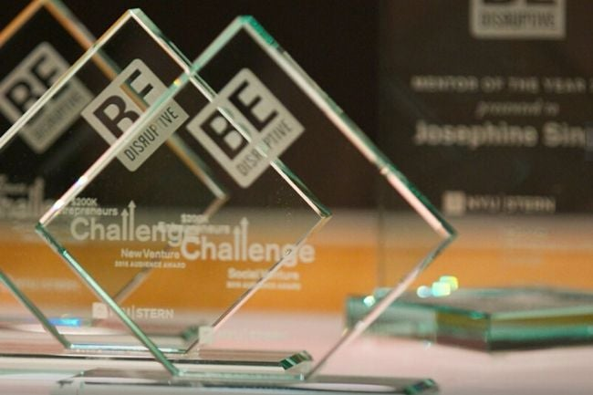 Entrepreneurs Challenge trophies
