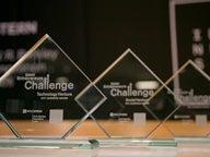 Berkley Entrepreneurs Challenge trophies