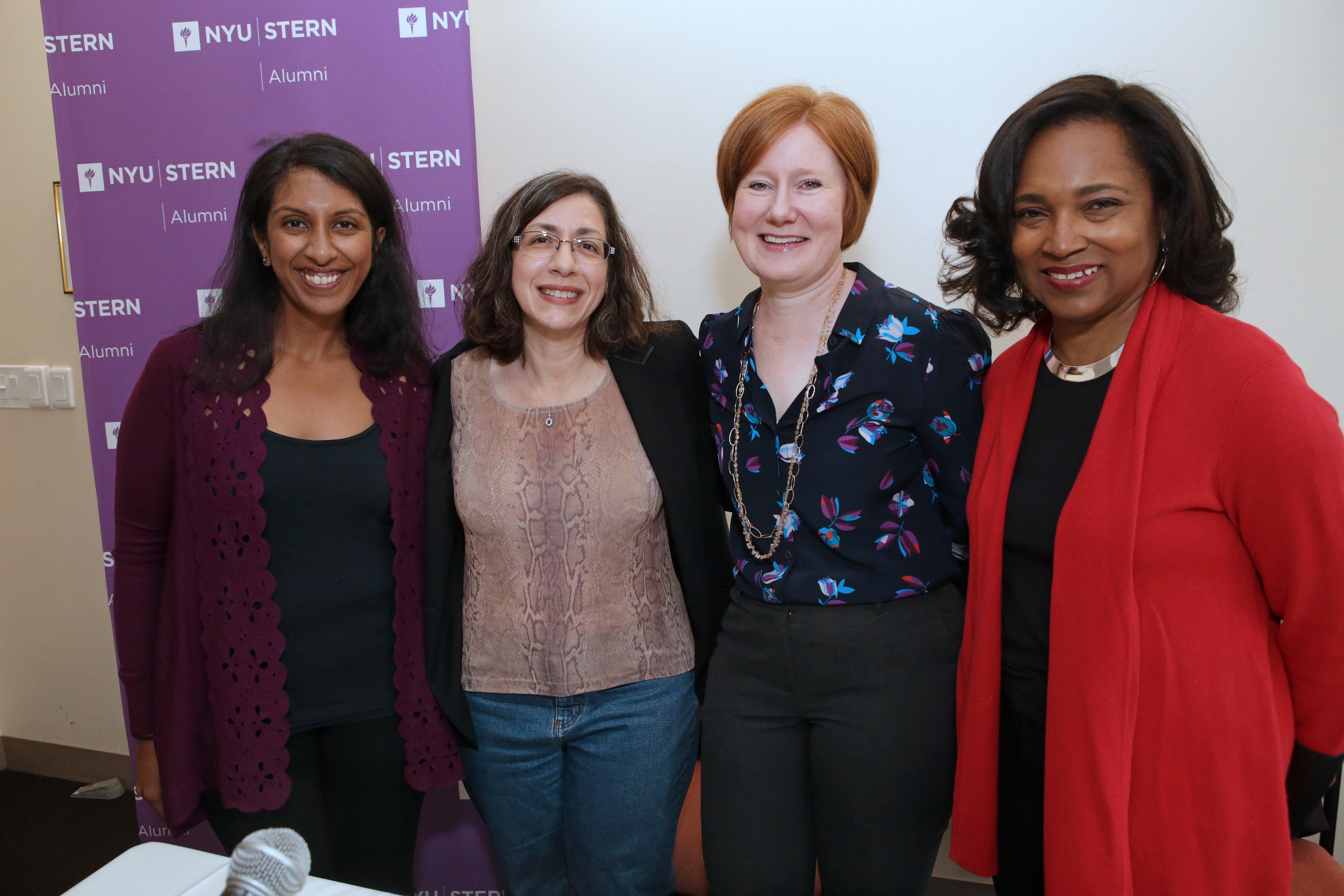 Stern alumnae panelists at Alumni Day