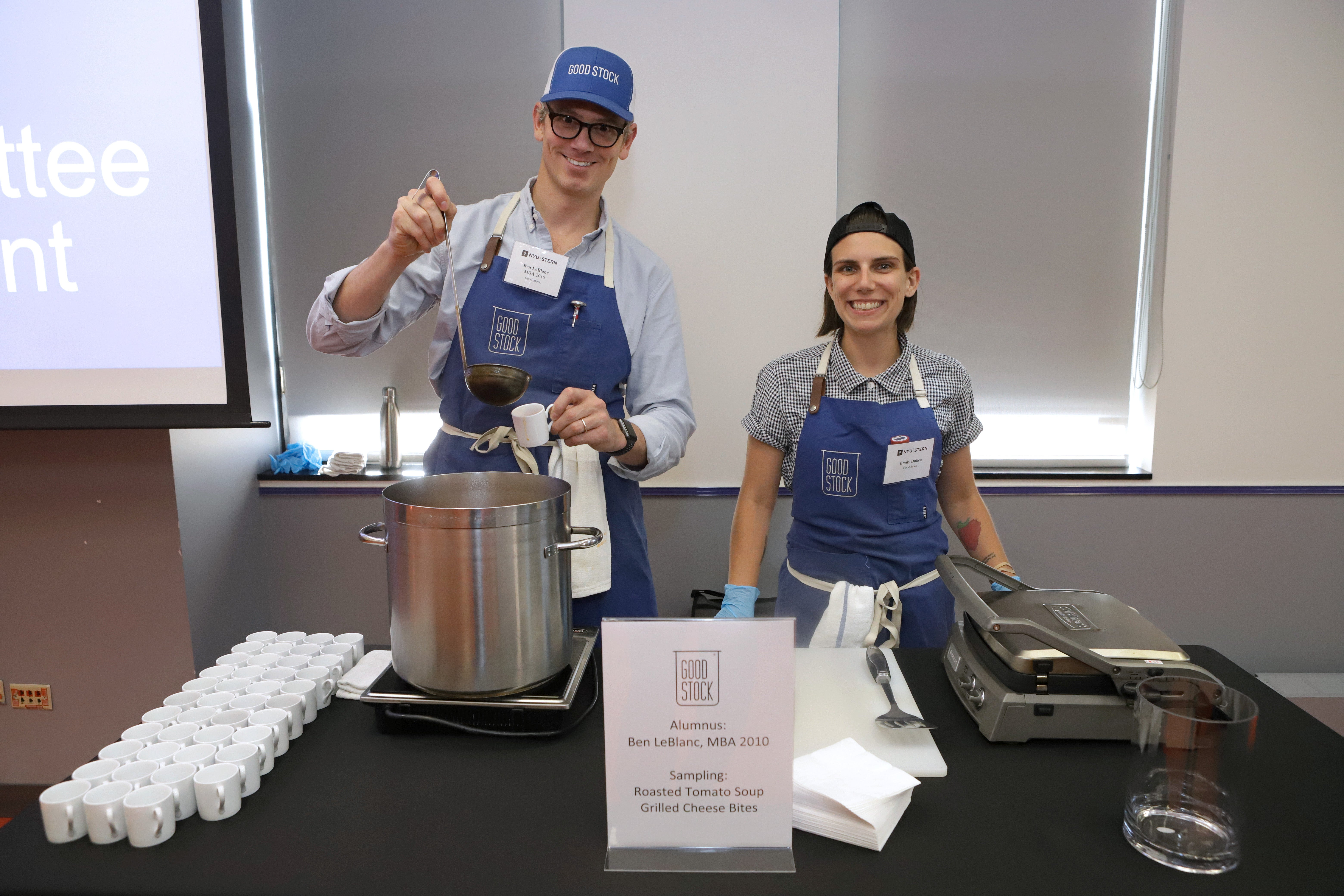 Alumni owned companies distribute food and wine at the annual Taste of Stern event
