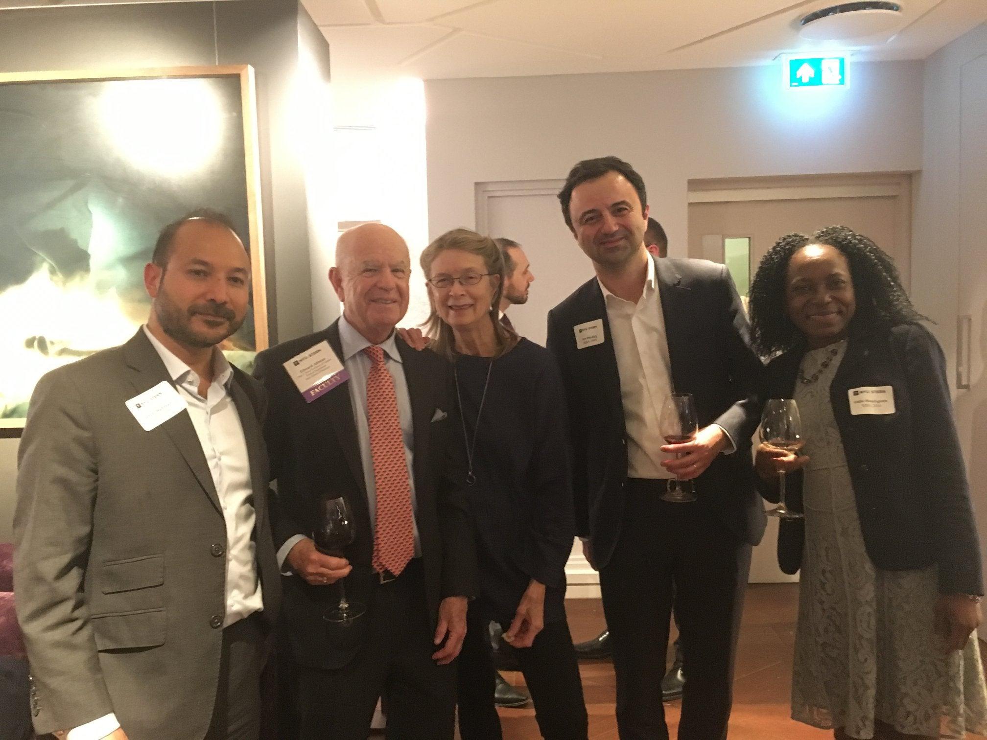 Ed Altman and alumni in London
