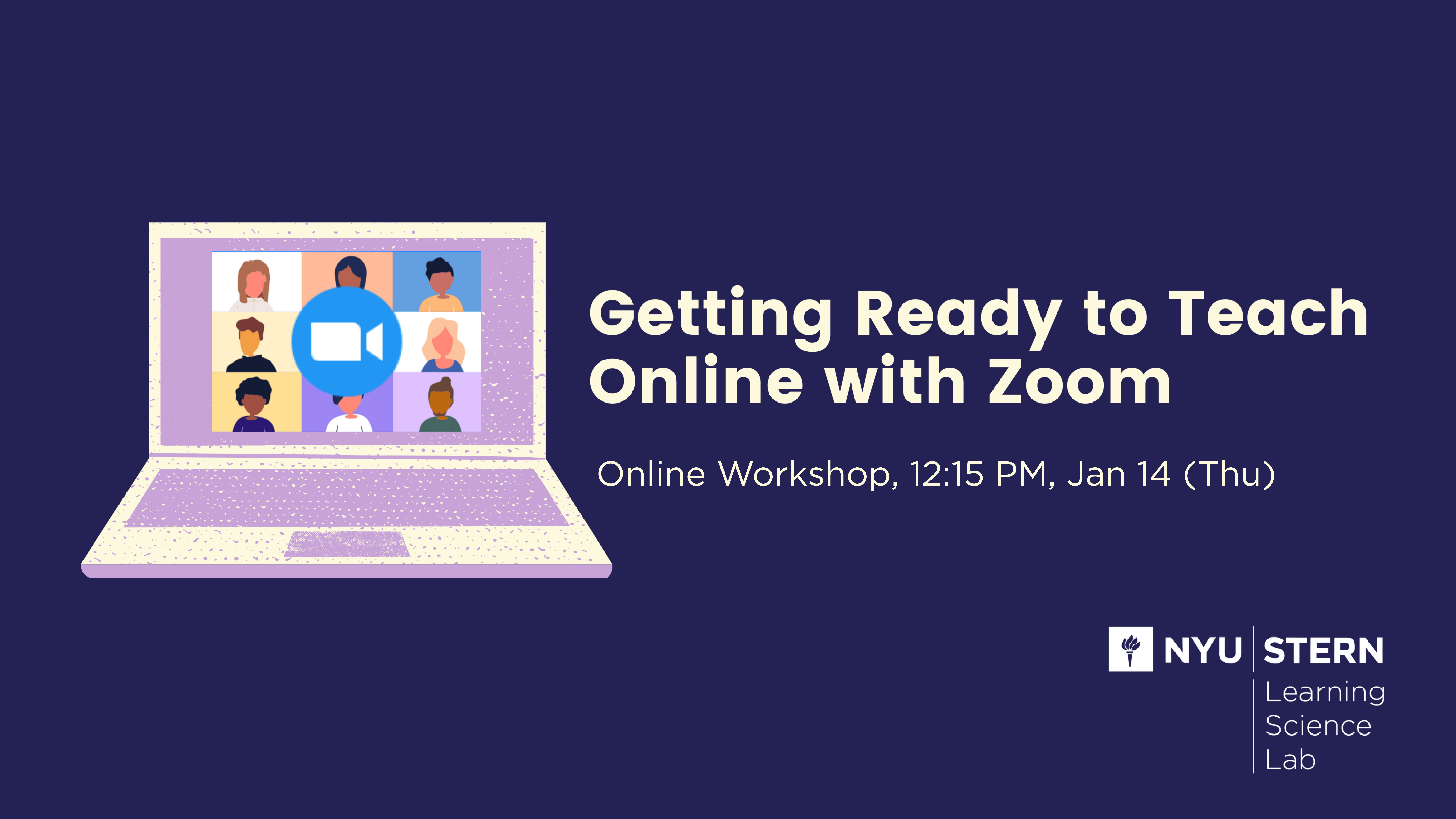 Getting ready to teach online with Zoom Online Workshop 12:15pm Jan 14 (Thu)