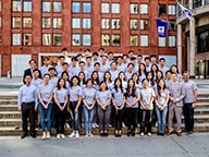 Students from the inaugural classes of the new one-year master's programs offered jointly by NYU Shanghai and NYU Stern