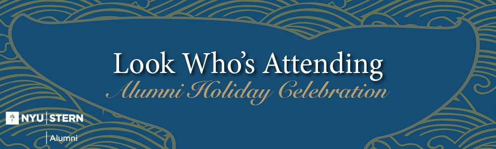 Look Who's Attending the 2017 Alumni Holiday Celebration
