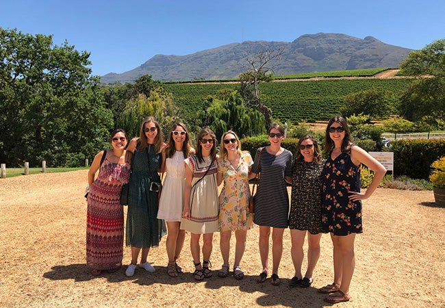 Group of MBA students in South Africa