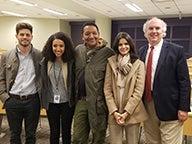 Matthew Christian, Soreti Teshome, Darryl Howard, Seema Saifee, Professor Bruce Buchanan