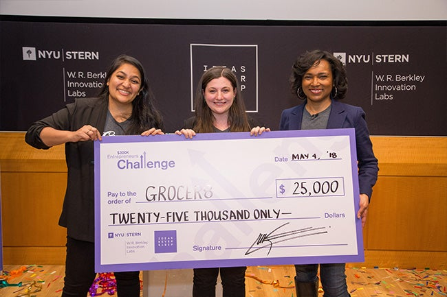 Members of the Grocer8 team at the $300K Entrepreneurs Challenge