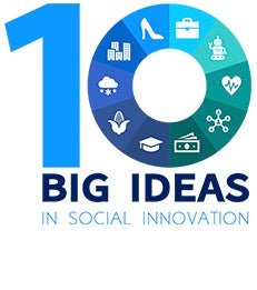 """Graphic with text, """"10 big ideas in social innovation"""""""