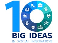 "Graphic with text, ""10 big ideas in social innovation"""