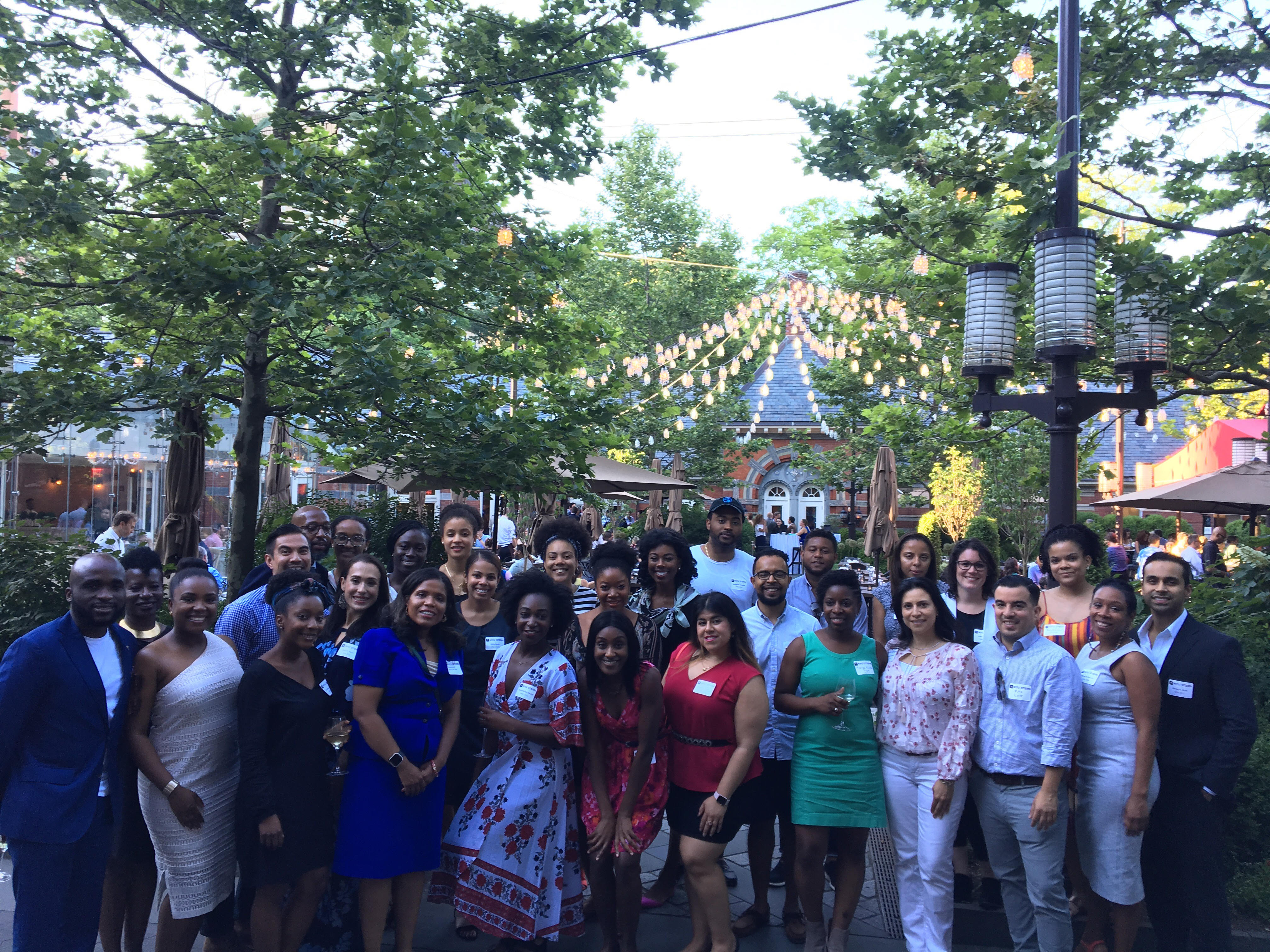 Alumni gather at a soiree at Tavern on the Green