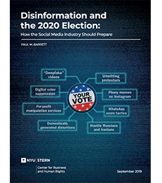 Disinformation and the 2020 Election cover