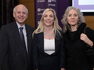 Dr. Lael Brainard, Member of the Board of Governors of the Federal Reserve System (center); Professor Jennifer Carpenter, Associate Director of the NYU Stern Center for Global Economy and Business (right); Professor Kim Schoenholtz, Director of the NYU Stern Center for Global Economy and Business (left)