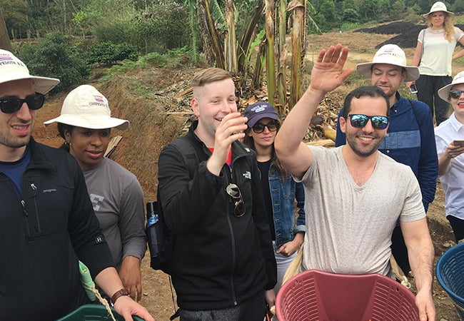 Group of MBA students in Costa Rica