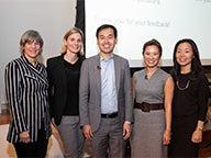 Professor Tensie Whelan, Jessica Zarzycki, Lee Gao, Ailene Holderness, Kyung-Ah Park