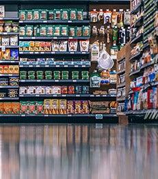 An assortment of consumer packaged goods