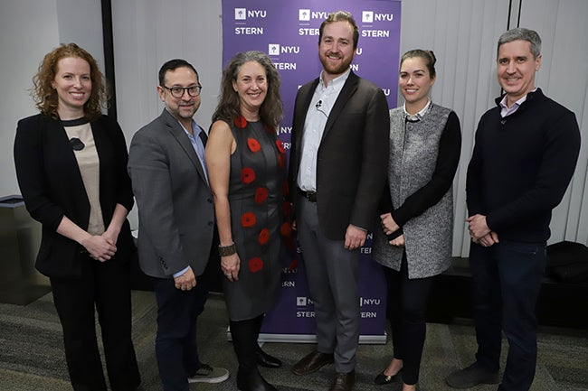 From left to right: Sophie Rifkin, Sam Marks, Laura Callanan, Ward Wolff, Anna-Marie Wascher and Brian Murray