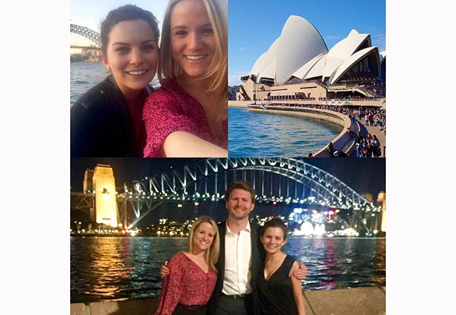 Collage of students and Sydney Opera House