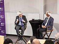 Nobel Laureate, Professor Paul Romer in conversation with Dean Raghu Sundaram