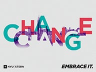 "Art with the words, ""Change. Embrace it."""