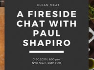 "Graphic with text, ""A Fireside Chat with Paul Shapiro"""