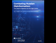 Cover of Combating Russian Disinformation: The Case for Stepping Up the Fight Online