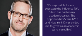 """""""It's impossible for me to overstate the influence NYU Stern has had on my academic career."""" - Corey Phelps"""