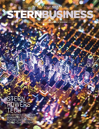 Cover of the Fall 2018 issue of SternBusiness Magazine