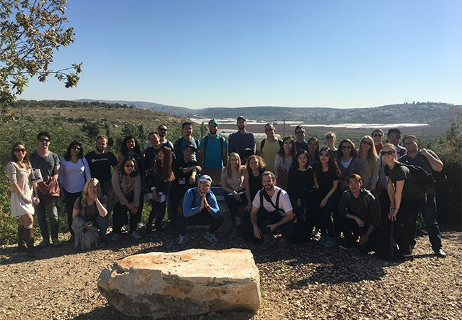 Group of MBA students in Israel