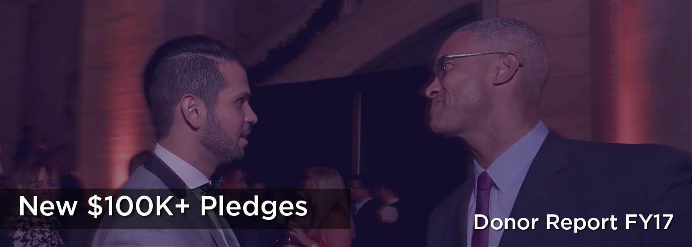 New $100K+ Pledges
