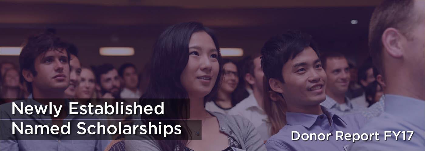 Scholarships - Newly Established Named Scholarships