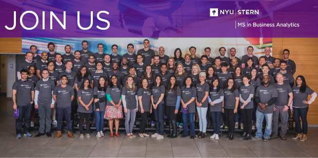 Join NYU Stern's MS in Business Analytics Program - Data Science Central