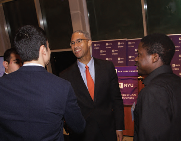 Dean Henry and Students
