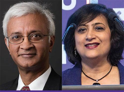 Dean Raghu Sundaram and Dean Geeta Menon