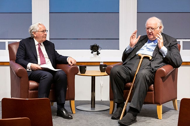 Lord Mervyn King and Sir Angus Deaton