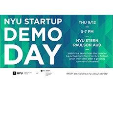NYU Startup Demo Day poster