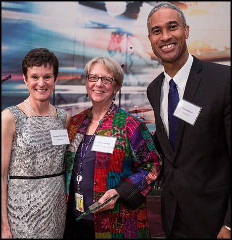 Susan Stehlik with Dn Henry and Dn Morrison at Stern Leadership Excellence Award