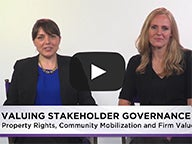 Valuing Stakeholder Governance Video