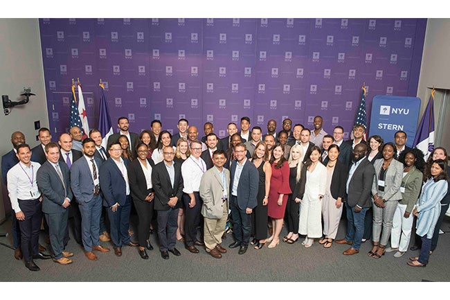 The inaugural class of NYU Stern's EMBA D.C. program