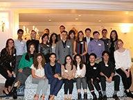 Students at Estée Lauder Corporate Headquarters