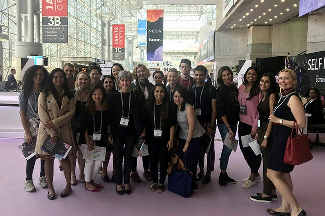 "NYU Stern Fashion & Luxury MBA students at UBM Fashion's ""[PRE] COTERIE"" trade show"