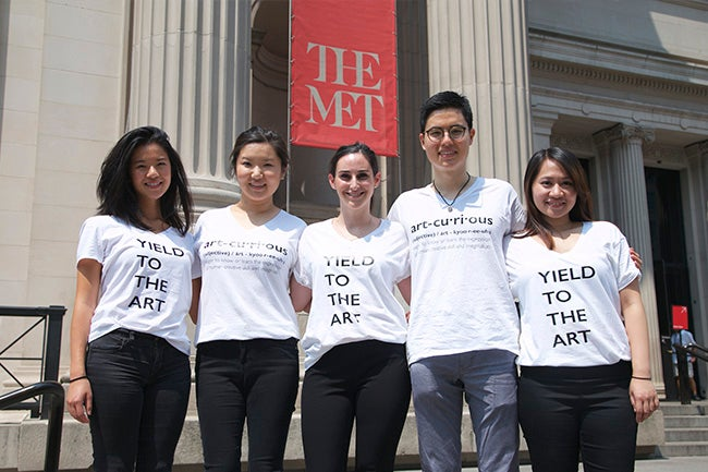 NYU Stern Fashion & Luxury MBA students at The Met