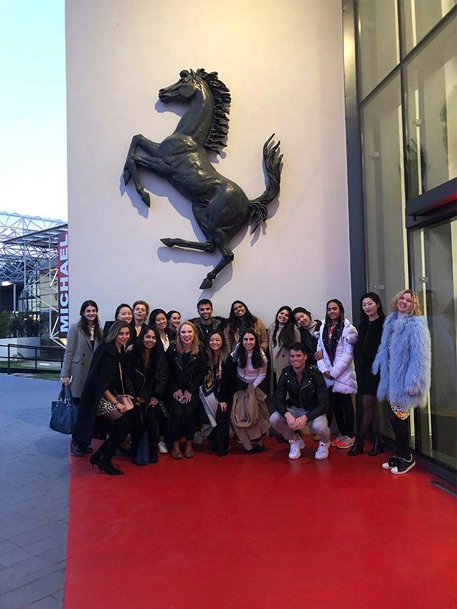 Students at Ferrari
