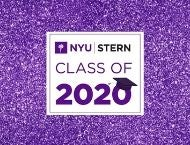 "Purple graphic with ""#Stern2020"""