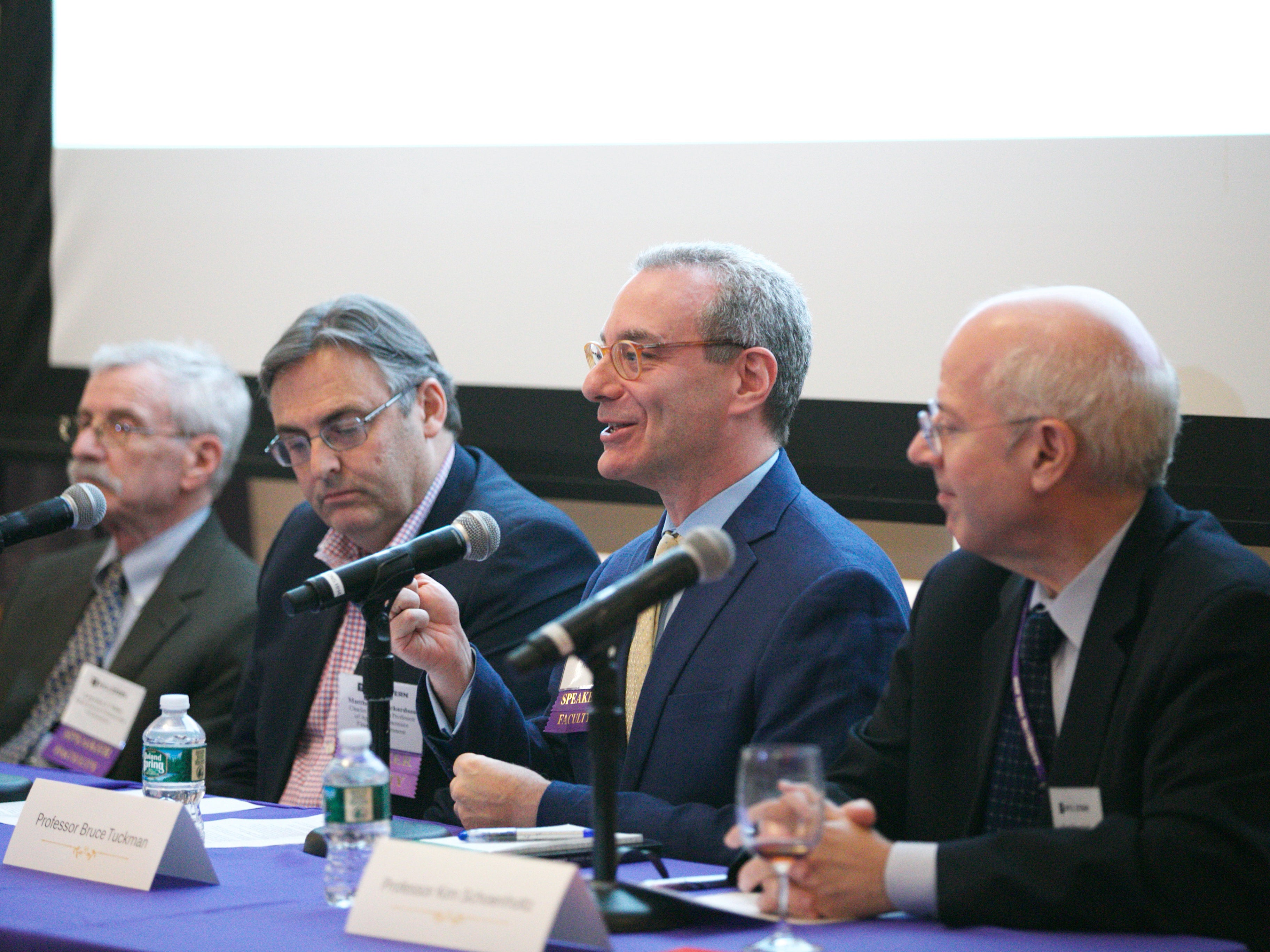 Panel from a book event at Stern on regulation