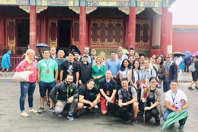 Executive MBA students in the Forbidden City