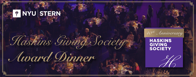 Haskins Giving Society Award Dinner 40th Anniversary