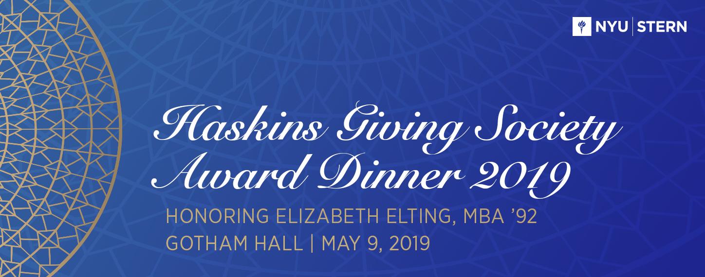Haskins Giving Society Award Dinner 2019