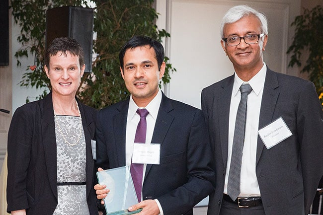 (center) Deepak Hegde, Director of the Creative Destruction Lab - New York City and Associate Professor of Management and Organizations