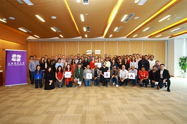 The MSBA program Class of 2019 onsite in NYU Shanghai for module 3 of their program